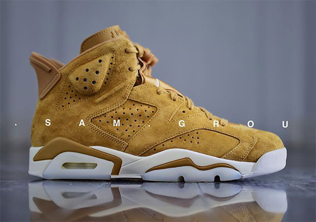 finest selection 546e5 13801 Air Jordan 6 Golden Harvest Wheat Detailed Preview ...
