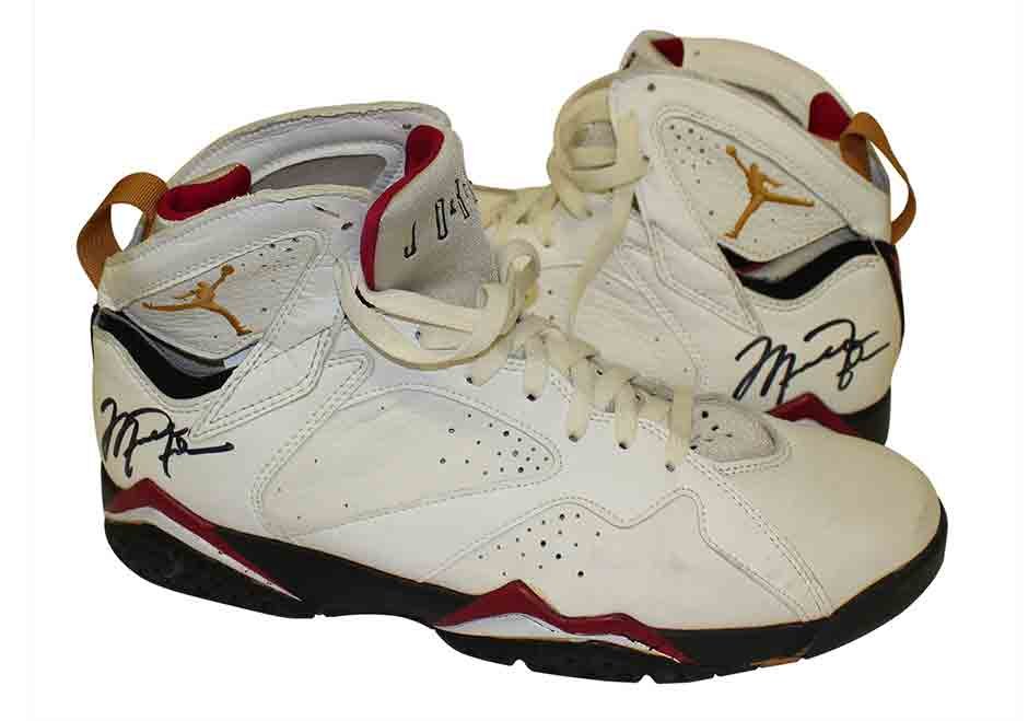 Michael Jordan's Autographed Game-Worn Air Jordans From 1992 Are Up For Auction