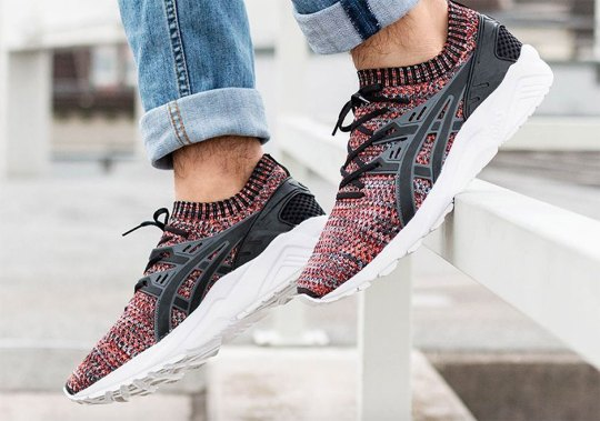 """ASICS GEL-Kayano Trainer Adds """"Space Dye"""" Knit Uppers"""