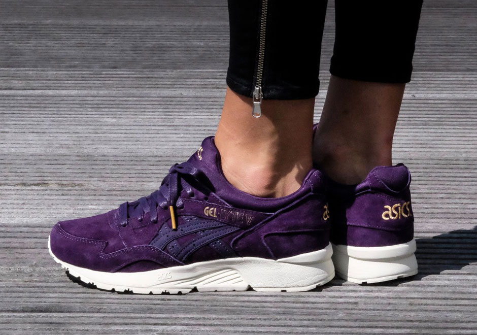 ef34ccc0b178 The ASICS GEL-Lyte V is looking like sneaker royalty in this latest lush  purple colorway. Rich purple suede covers the upper of the classic runner