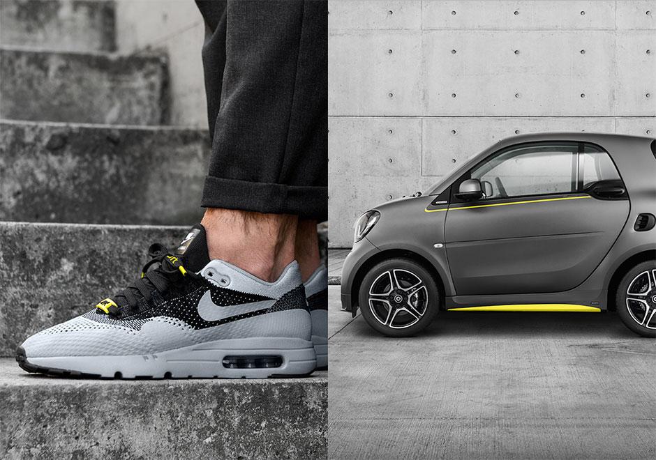 Asphalt Gold Nike Air Max 1 Flyknit Smart Brabus Car