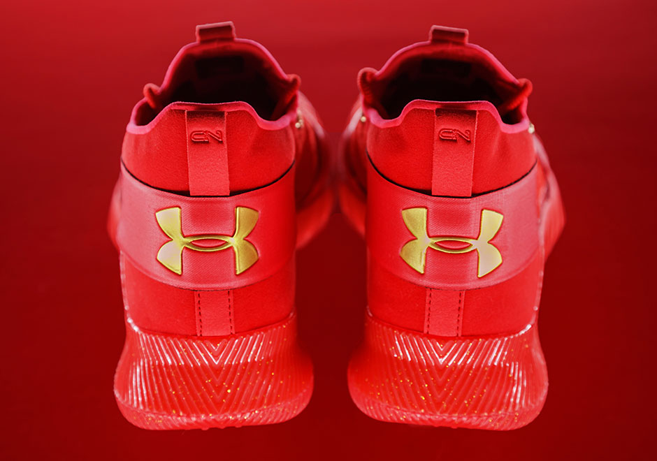 Cam Newton Under Armour C1N Red Shoes