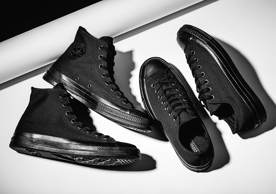 "474d3cc6dd58 The most iconic and timeless sneaker of all time adopts a contemporary  colorway trend with the Converse Chuck Taylor 1970s in ""Triple Black""."