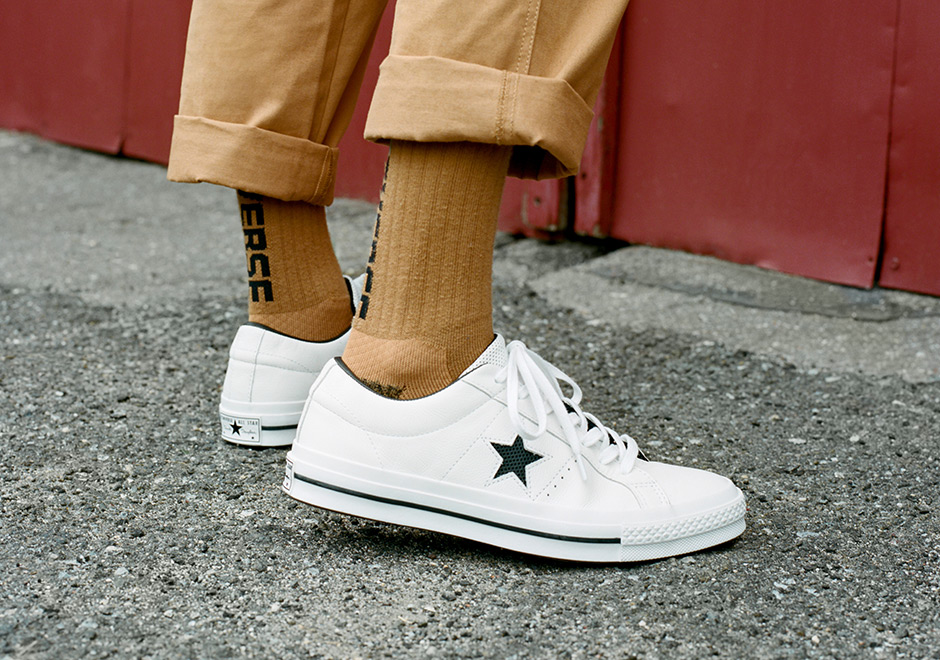 4afcade29b5 ... perforated leather panels for the star logo on each side as well as the  tongues. The pack drops July 13th at Converse.com and select Converse  retailers.