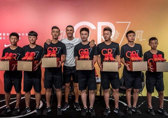 Cristiano Ronaldo Debuts New Colorway Of The Nike HyperAdapt 1.0