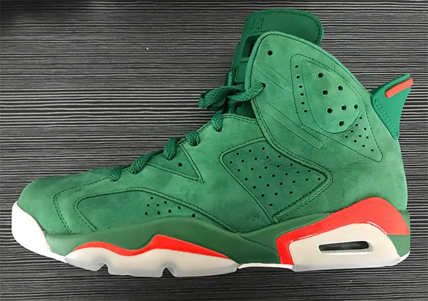 "0ce271444c3c Update The Air Jordan 6 ""Gatorade"" in green suede releases on December  30th"