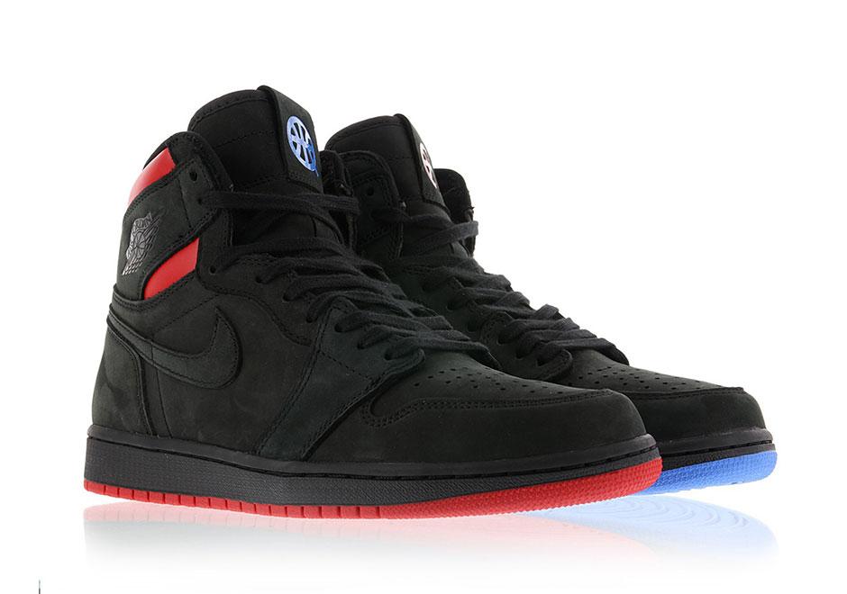 "Air Jordan 1 Retro High OG ""Quai 54"" Release Date: July 8th, 2017. Color:  Black/University Red/Game Royal"