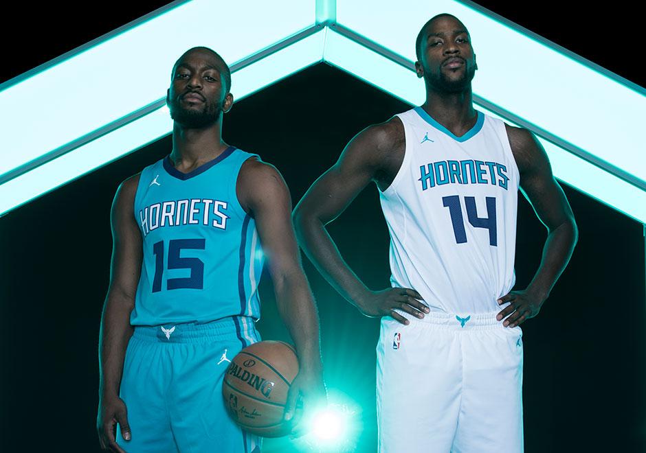 b0e3c1257 Jordan Charlotte Hornets NBA Uniforms 2017 2018 Season