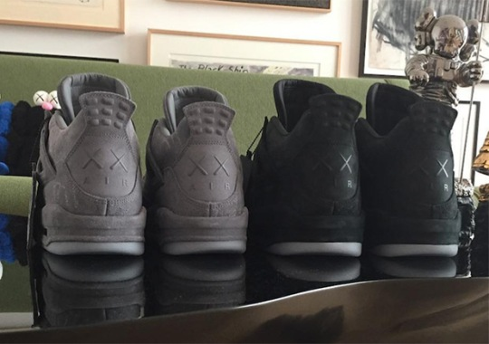 KAWS Reveals Black Colorway Of Air Jordan 4 Collaboration