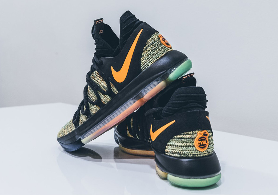 new concept 26d04 5fd54 Nike KD 10 Peach Jam EYBL | SneakerNews.com