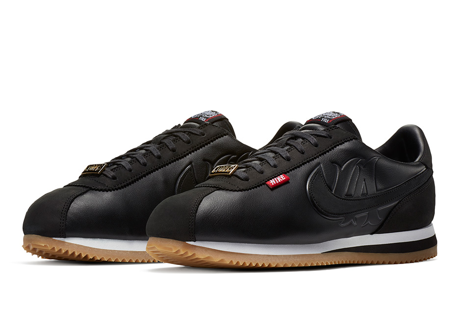 The black silhouette embodies the elements from the first two original  Cortez shoes, reimagining the concept and combining both original designs  into one ...