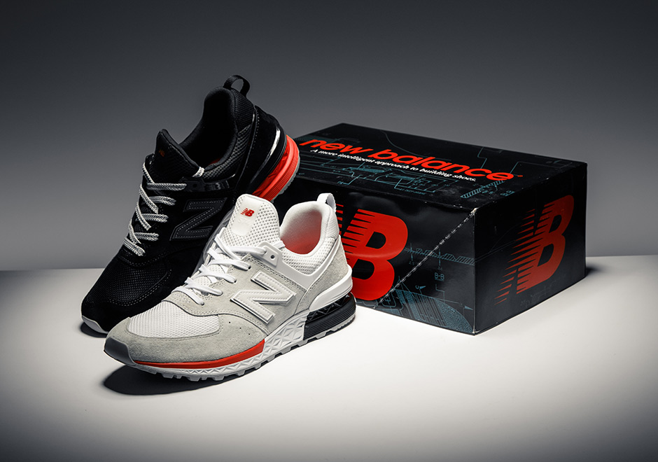 new balance 574 retro sport red
