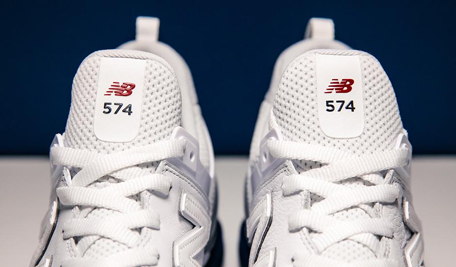 Nuovo Equilibrio 574 Sport Bianco Rosso Blu mvv1L