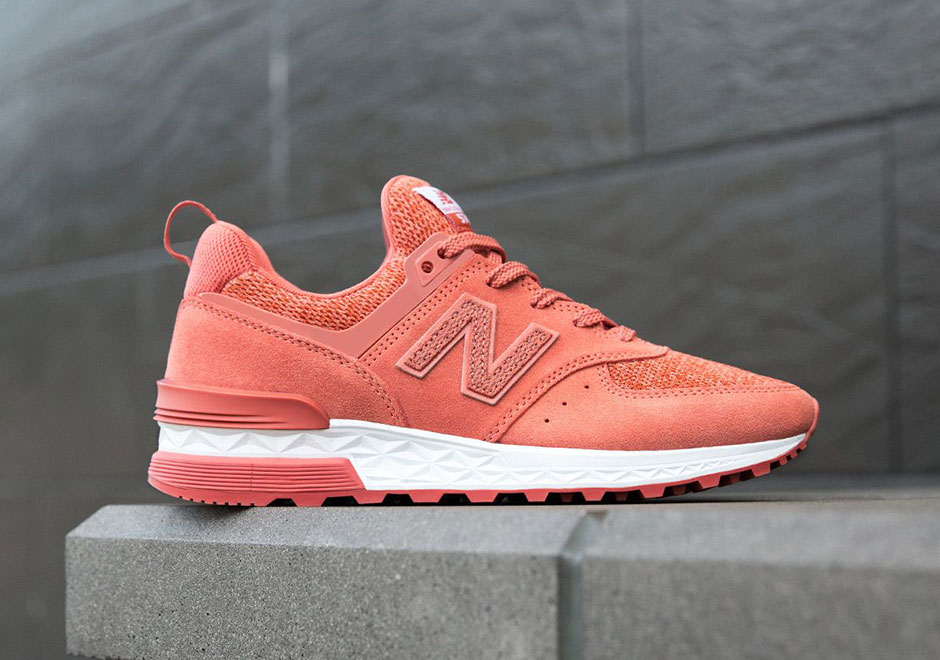 nouveau style 5a740 f889c france new balance 574 womens orange pink fd9e9 44e3c