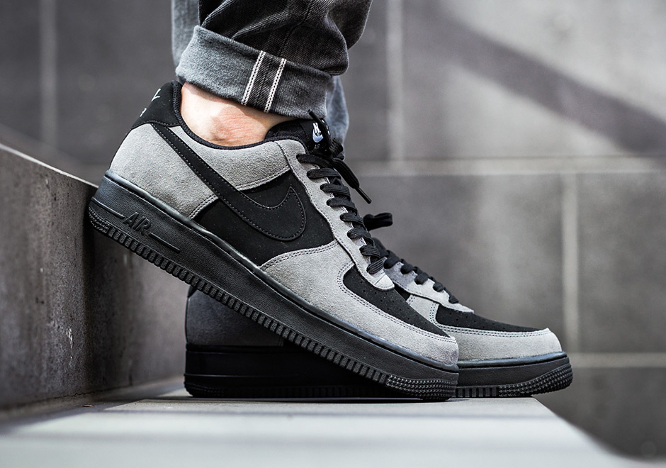 check out 984cd 68e56 Nike Air Force 1 Low Dark Grey Black 820266-020 ...