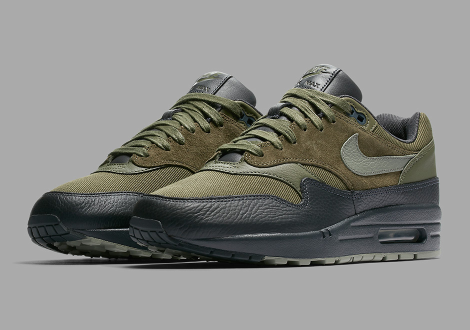 "new concept c53a0 8497a ... Updated on July 17th, 2017 The Nike Air Max 1 Premium ""Dark Stucco"" ..."