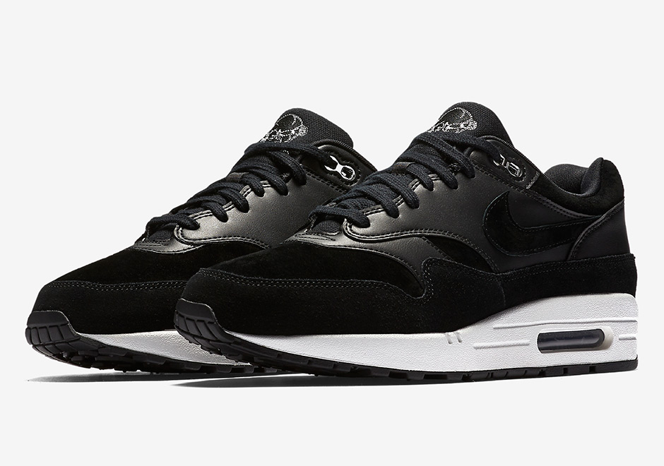 48e6152737 Nike Air Max 1 Premium AVAILABLE NOW AT Nike $110. Color: Black/Chrome-Off  White Style Code: 875844-001