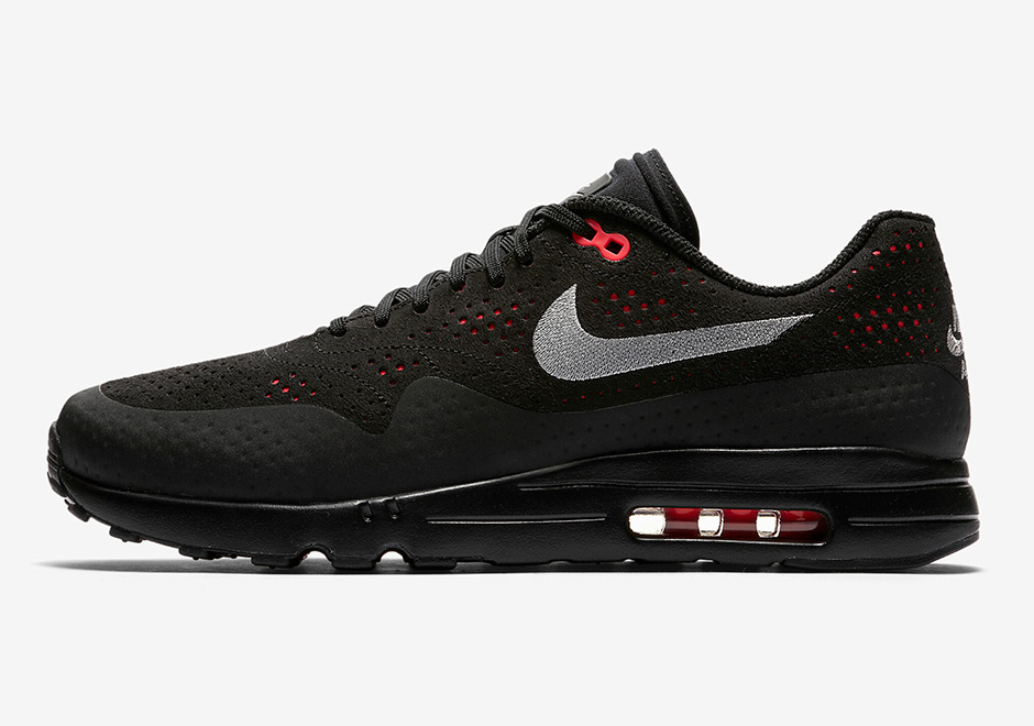 save off 1fb72 28199 Nike Air Max 1 Ultra Moire Black Solar Red 918189-002   SneakerNews.com
