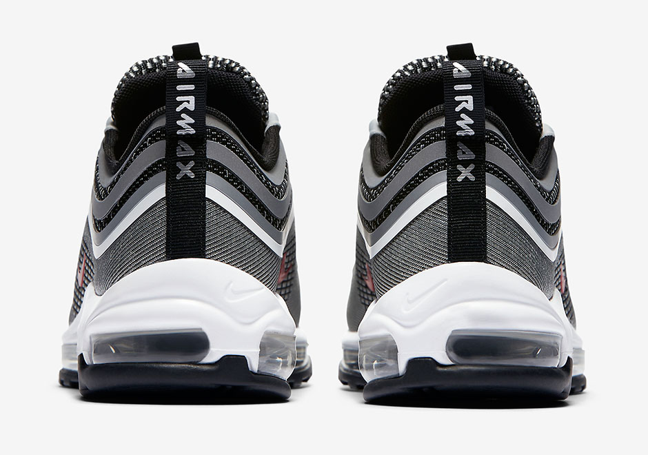 936dacc09e92 Nike Air Max 97 Ultra  17  170. Color  Metallic Silver Varsity Red-Black  Style Code  918356-003 (Men) Style Code  917704-002 (Women)