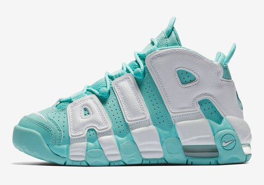 "The Nike Air More Uptempo ""Island Green"" Releases On July 26th"