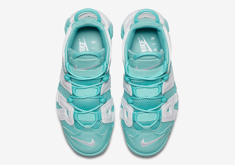 Nike Air More Uptempo Gs Island Green Release Date July 22nd 2017 130 Color White