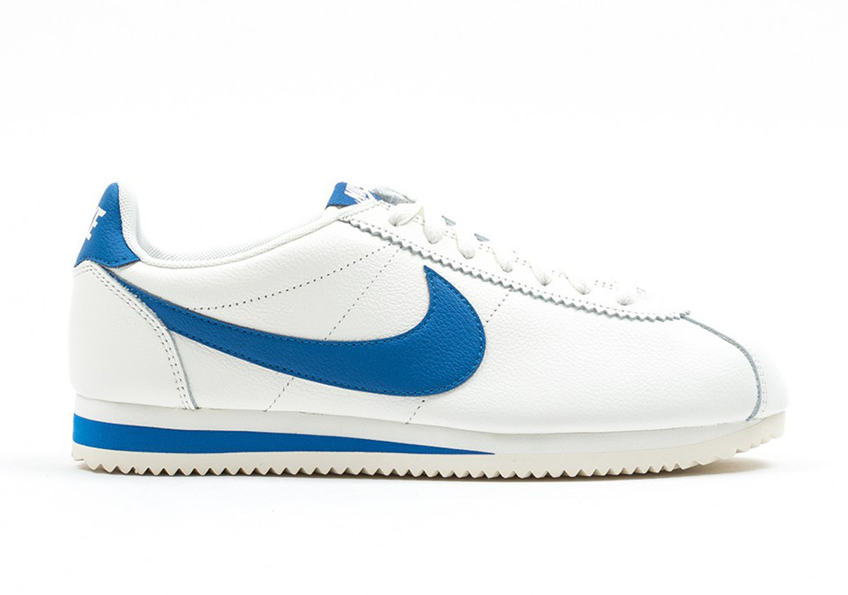 nike cortez blue with yellow swoosh