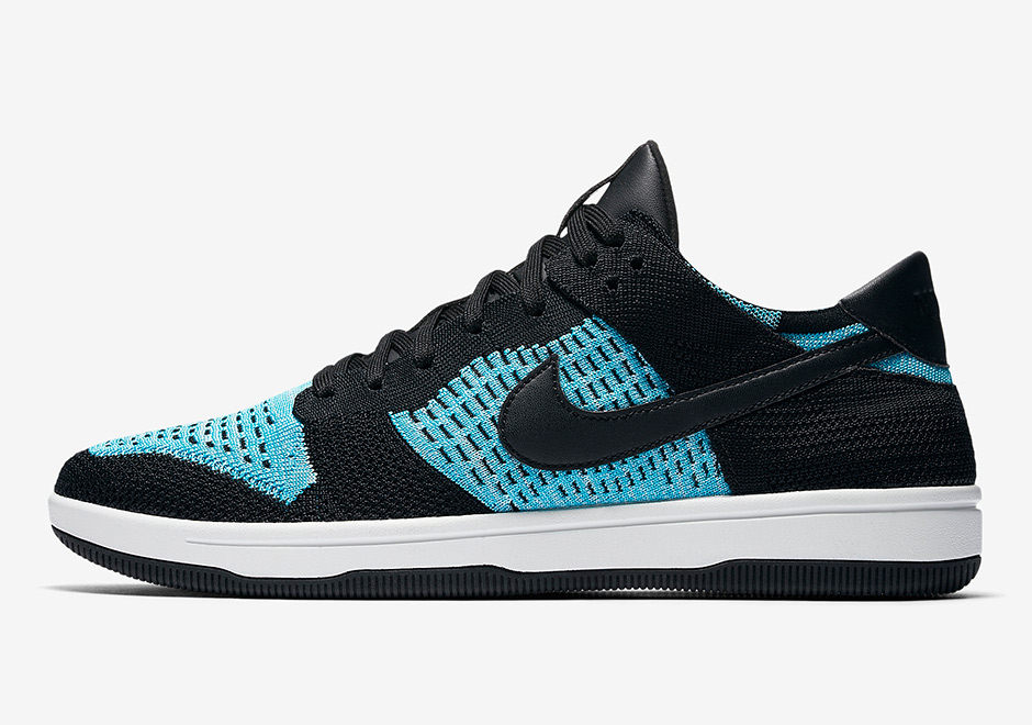 a50239e1e078ae Nike Dunk Low Flyknit AVAILABLE NOW AT Nike  120. Color  Black Summit White Chlorine  Blue Style Code  917746-001