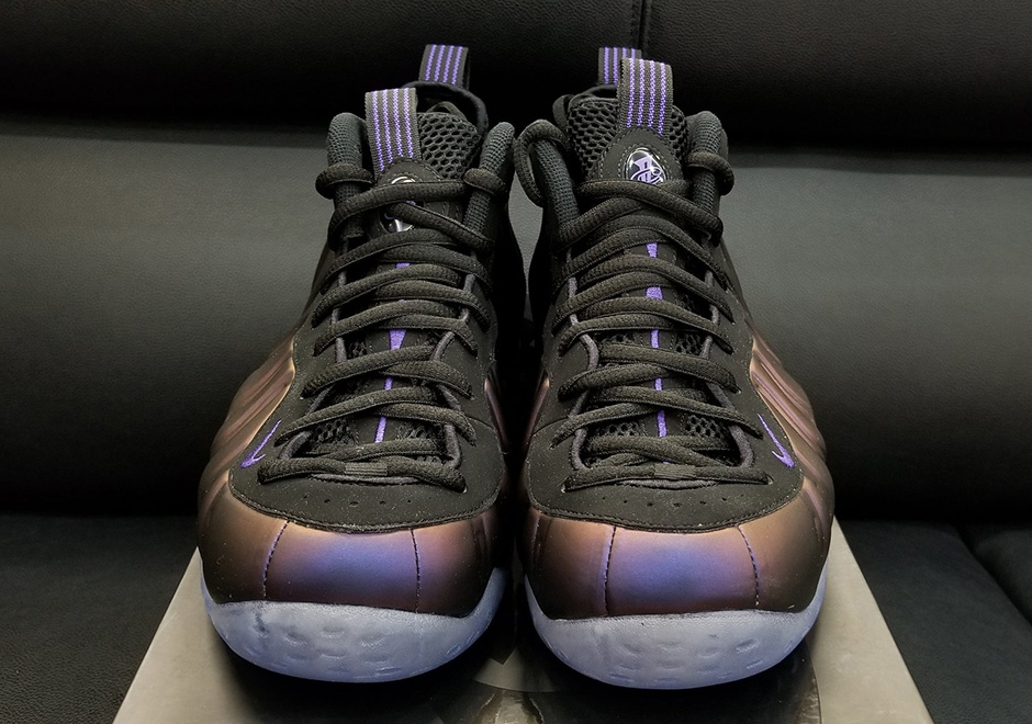 "wholesale dealer 237a1 66703 Nike Air Foamposite One ""Eggplant"" Release Date  July 29th, 2017  230.  Color  Varsity Purple Black Style Code  314996-008. Advertisement"