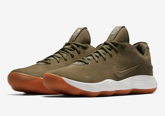 Leather And Gum Nike Hyperdunk 2017 Low Releases In Olive
