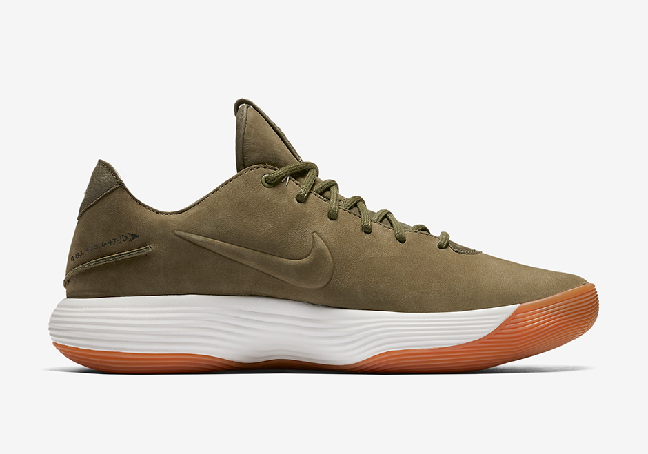 50134e71511d Color Olive White-Gum Light Nike React Hyperdunk Mens 2017 Low Tb Athletic  Basketball Shoes Red Size ...