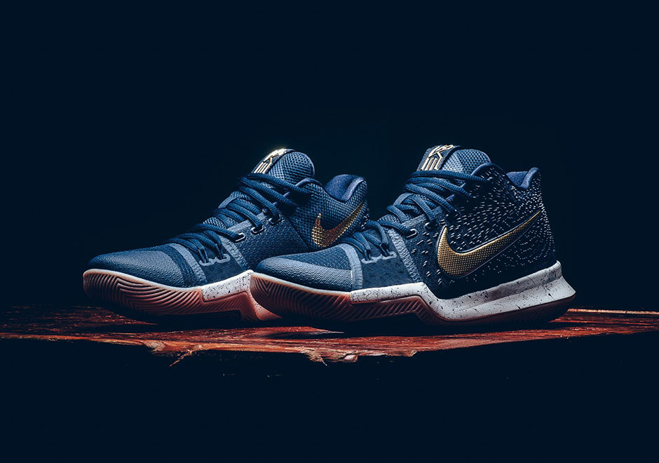 "new style 3a544 2b7ff As Kyrie Irving Heads To Asia, Nike Releases The Kyrie 3 ""Obsidian"""