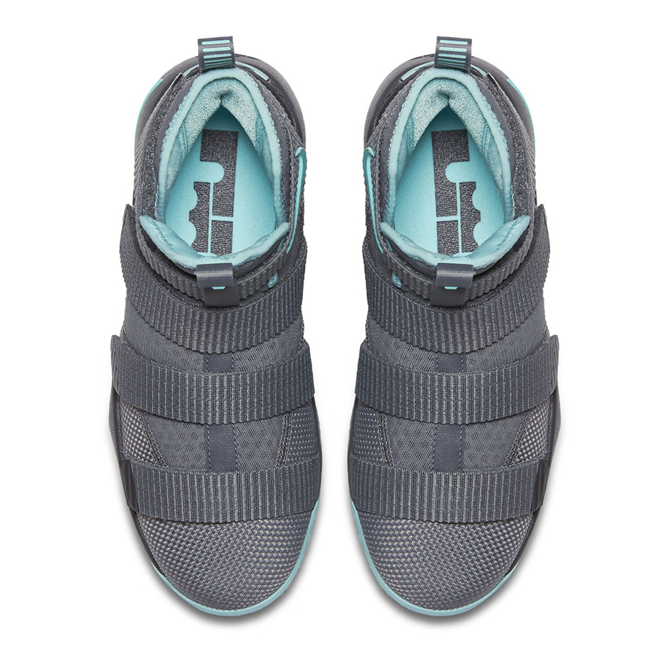 50edde947e9 Nike LeBron Soldier 11 GS AVAILABLE AT KICKS USA  110. Color  Cool Grey  Anthracite-Island Green Style Code  918369-003. Advertisement