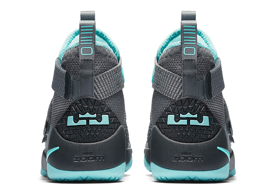 8d4a3d83a31 Nike LeBron Soldier 11 GS AVAILABLE AT KICKS USA  110. Color  Cool Grey  Anthracite-Island Green Style Code  918369-003. Advertisement. show comments