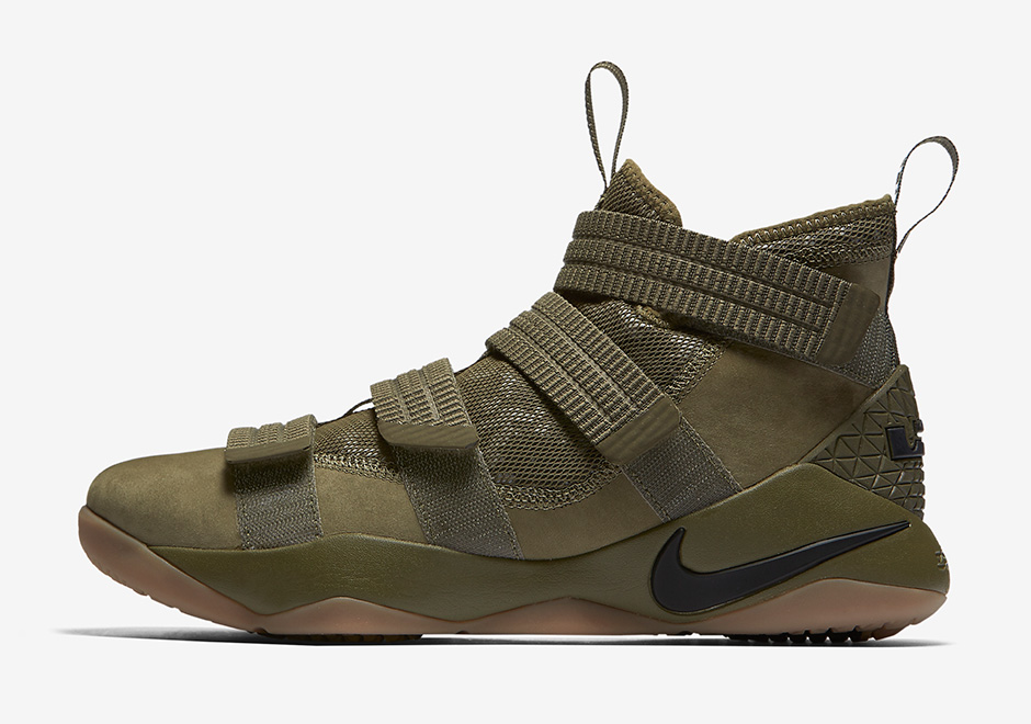 separation shoes fa4ab 498fc Nike LeBron Soldier 11 Olive Camo 897646-200 | SneakerNews.com