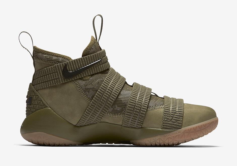 separation shoes e3648 3b696 Nike LeBron Soldier 11 Olive Camo 897646-200 | SneakerNews.com