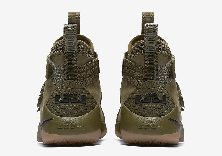 1bd91a8e33 Nike LeBron Soldier 11 Olive Camo 897646-200 | SneakerNews.com