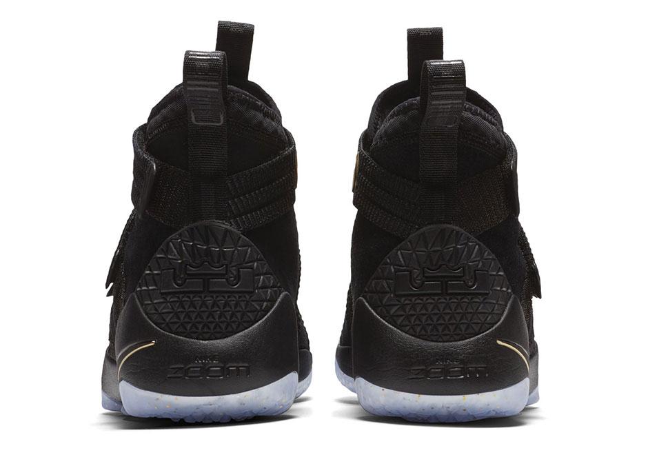 the best attitude d4090 1b208 Nike LeBron Soldier 11 SFG Black Gold 897647-002   SneakerNews.com