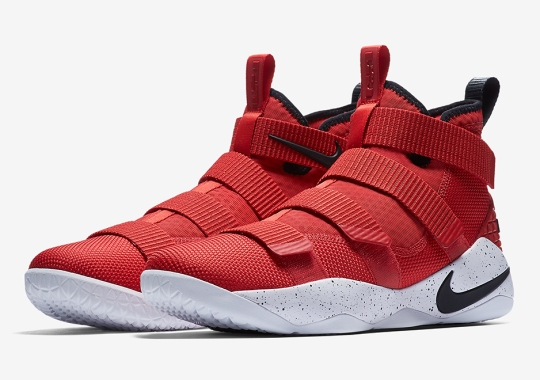 df1239c623d5 Classic Miami Heat Colors Appear On The Nike LeBron Soldier 11