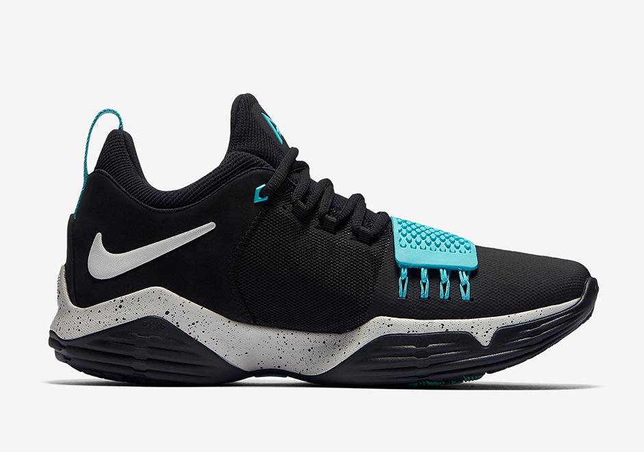 "Nike PG 1 ""Blockbuster"" Release Date July 22nd, 2017 110. Color  BlackLight Aqua-LightBone"