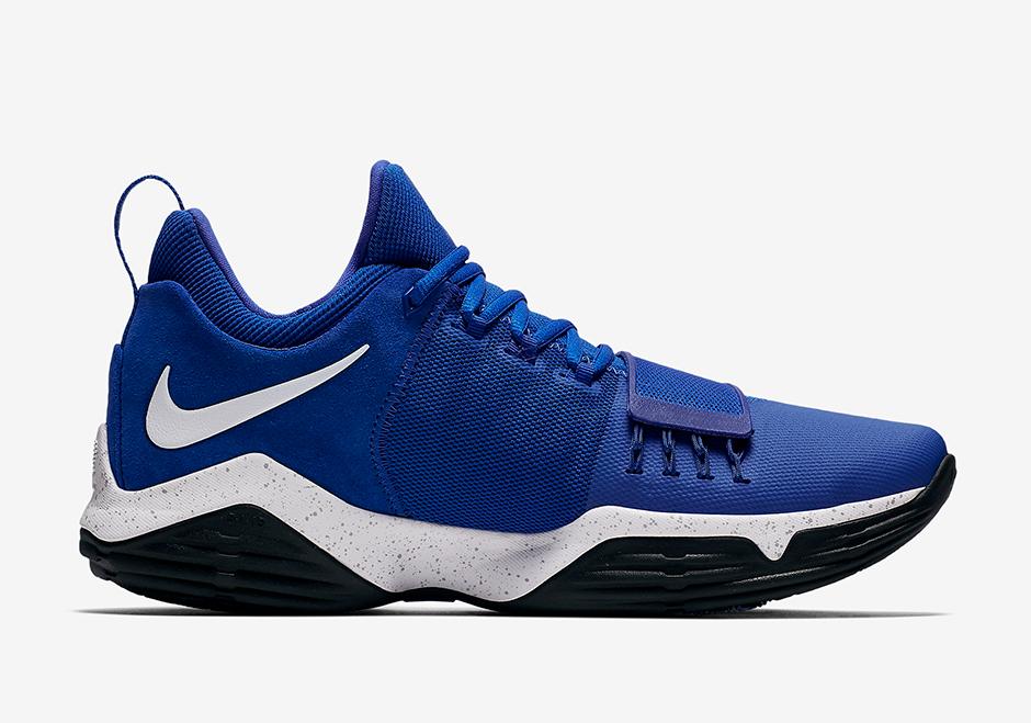 "Nike PG 1 ""Game Royal"" Release Date: September 16th, 2017 $110. Color: Game  Royal/Black-White"