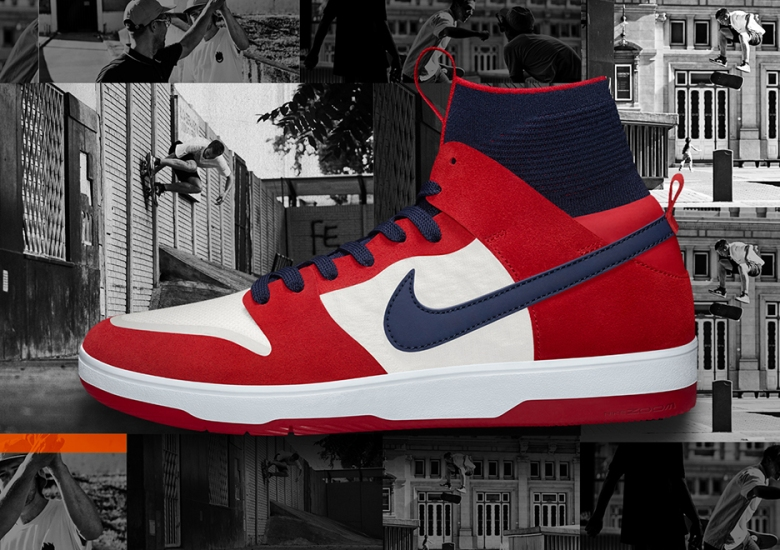 check out 057db b92e2 The Nike SB Dunk High Elite In Red And Navy Is Coming Soon