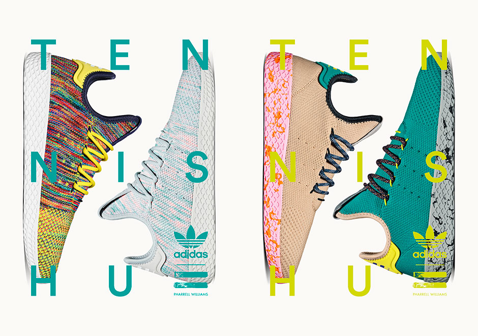 Pharrell's Second Drop Of adidas Tennis Hu Shoes Is Coming On July 28th