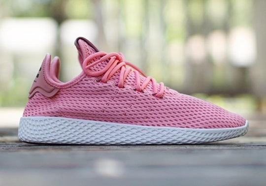 "Pharrell's adidas Tennis Hu Releases In ""Raw Pink"""