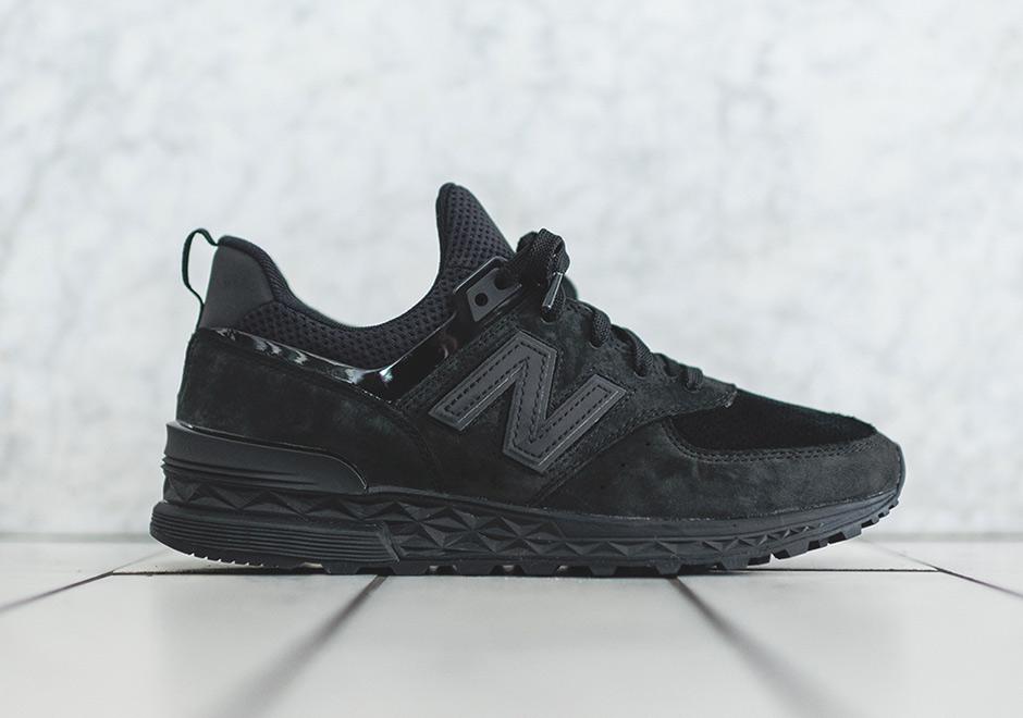 new balance 574 sport in black