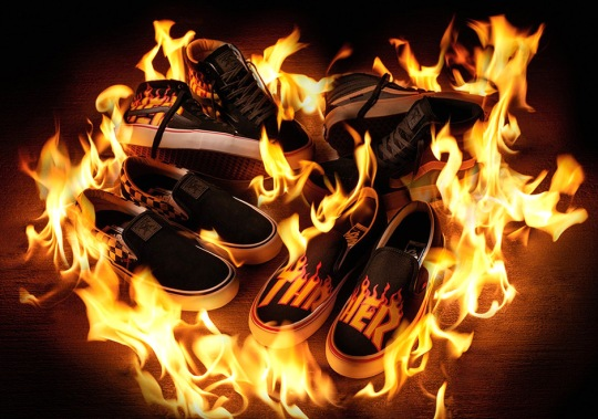 Thrasher and Vans Unveil New Collection Featuring The Magazine's Trendy Flames Logo
