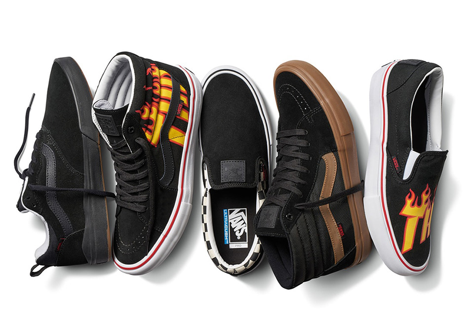 thrasher vans flames logo collection release info