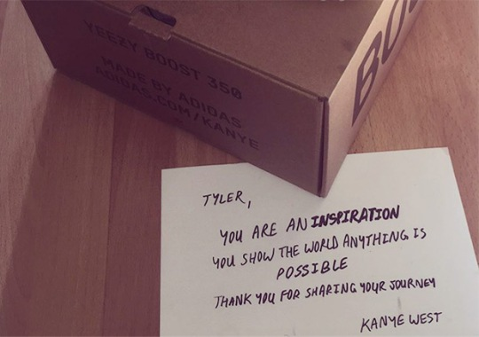 Kanye West Sends Yeezys And Personal Note To A Paralyzed Fan