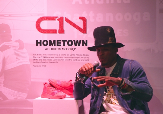 Ferocity Meets Artistry: Under Armour and Cam Newton Launch First Signature Shoe In Atlanta