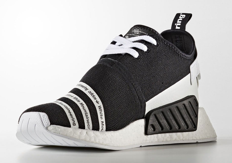 Updated on July 10th, 2017: The White Mountaineering x adidas NMD R2  releases in both Black and Olive colorways on July 15th, 2017 for $220.