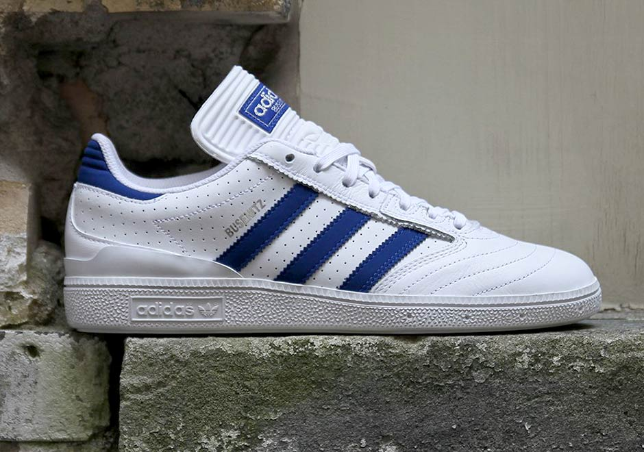 premium selection 53359 5b3f9 adidas Busenitz Pro White Royal Perforated Leather BY3971 ...
